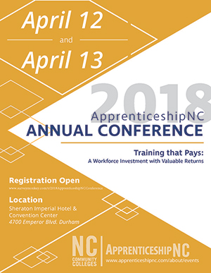 2018 Apprenticeship NC Conference flier