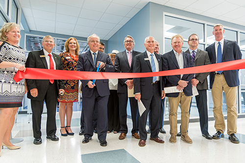 State and local leaders cut ribbon for revamped Johnston Workforce Development Center