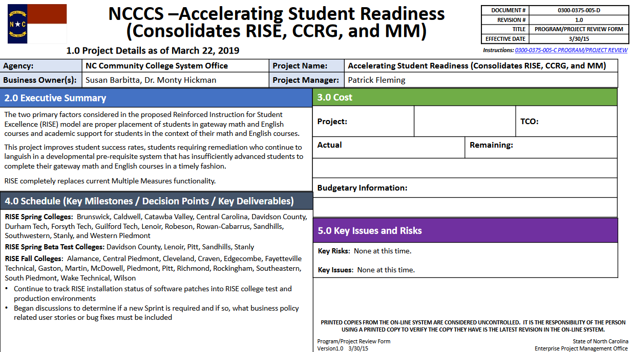 Accelerating Student Readiness RISE review image