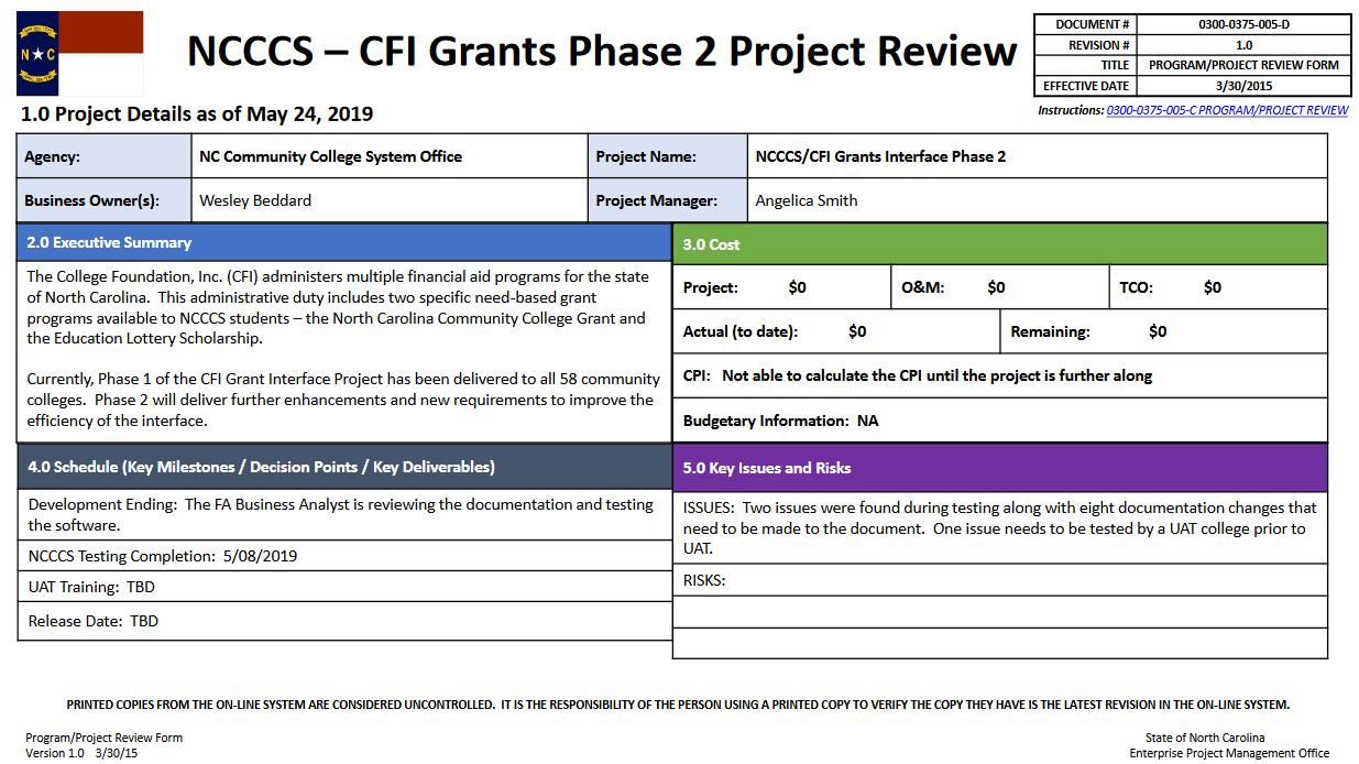 NCCCS- CFI Grants Interface Phase 2 image