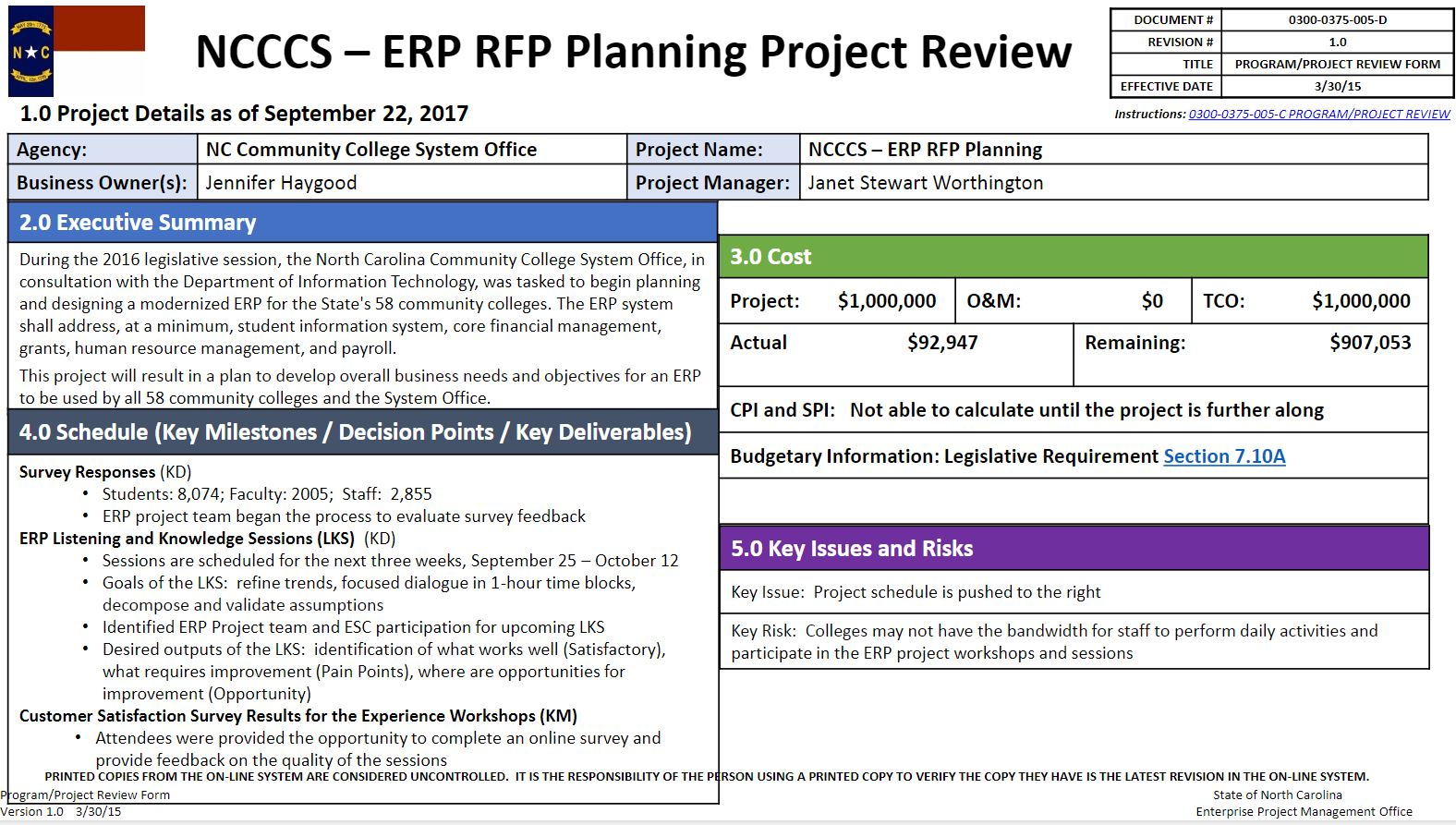 Enterprise Resource Planning Request For Proposal Planning Project