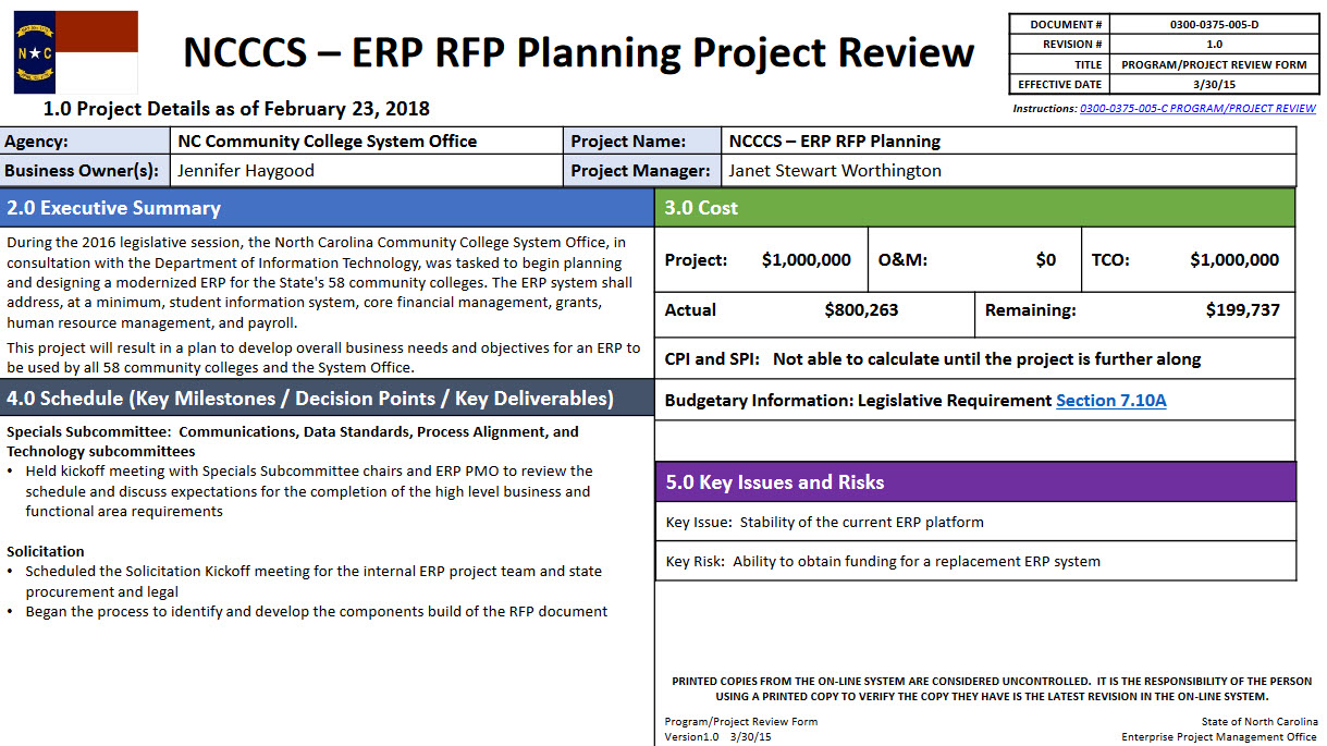 ERP RFP planning project image