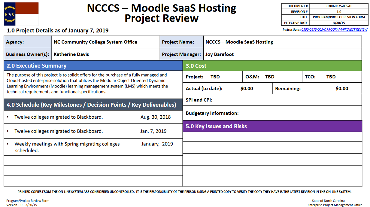 Moodle SAAS hosting project update image