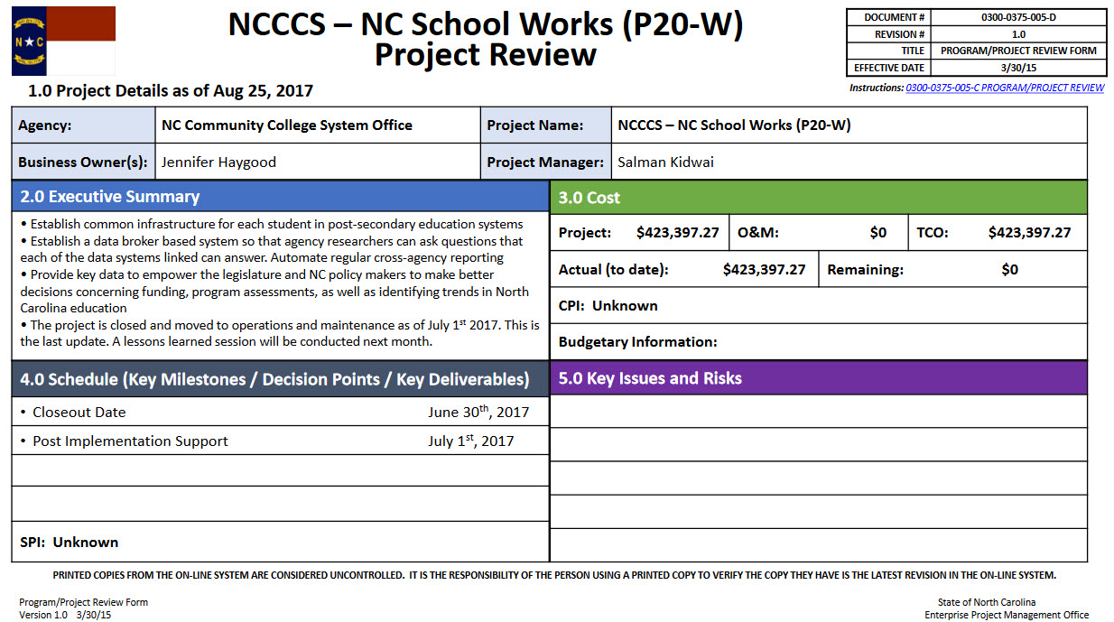 North Carolina School Works project image