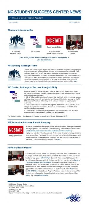 NC Student Success Center Newsletter