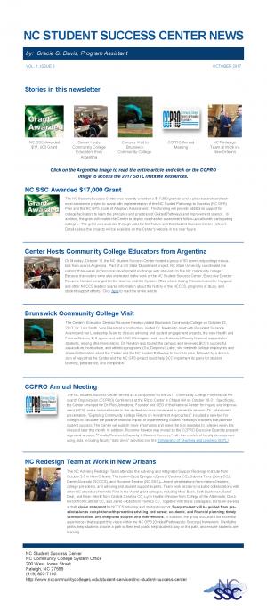Success Center Newsletter