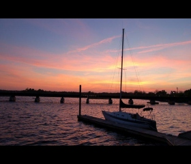 Sunset on the Trent River, Jessica Cofield, Student Craven CC