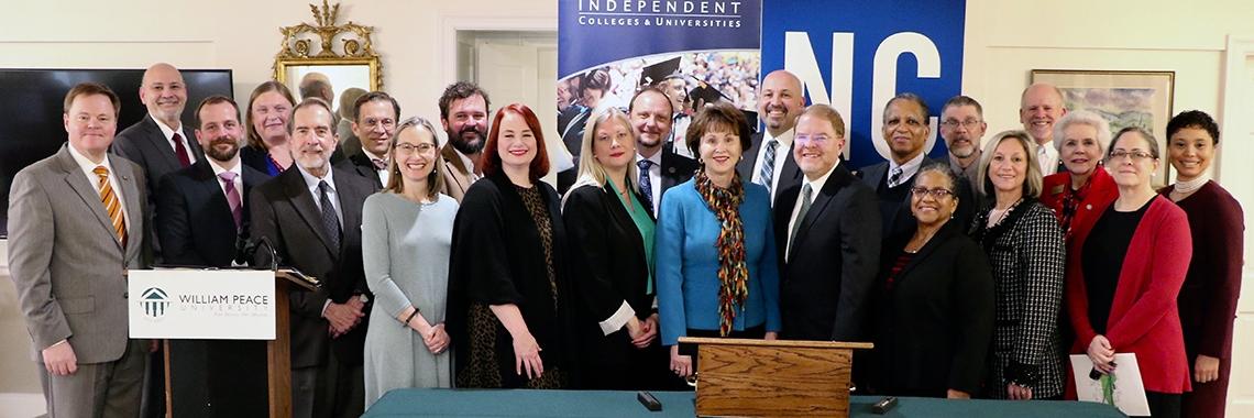 Representatives of NCCCS and NCICU