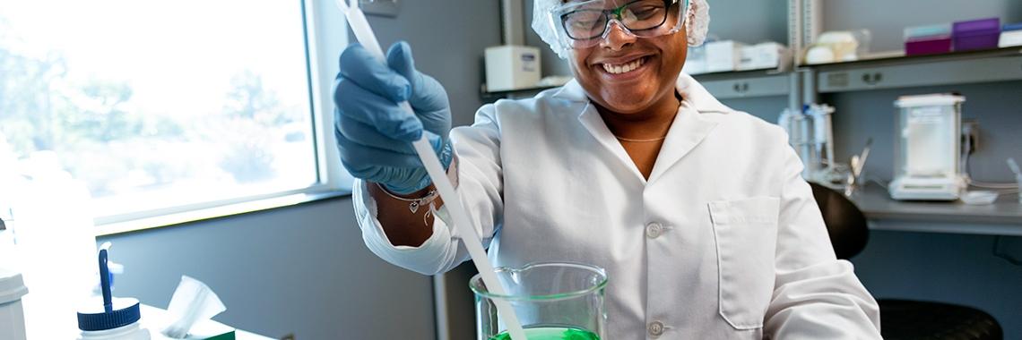 Johnston Community College biotech student Tiffany Vasquez