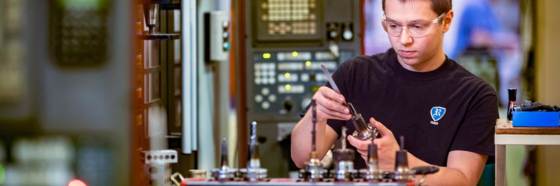 Apprentice Zack Stoll works at Superior Tooling