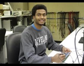 Cleveland CC 2016 Academic Excellence Award recipient Emmanuel Wallace