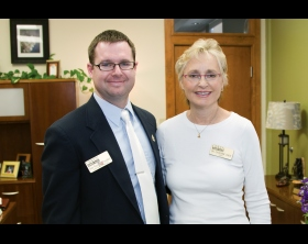 Sean Ross with Dr. Catherine Chew
